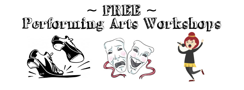 Free Performing Arts Workshops Banner