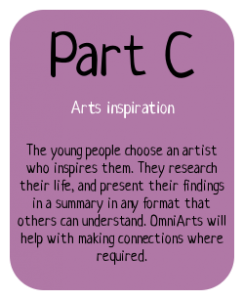 Part C of the Bronze Arts Award: Arts inspiration