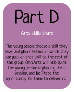 Part D of the Bronze Arts Award: Arts skills share