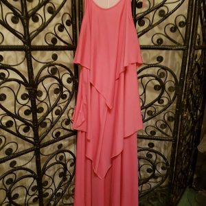 Pink Stretchy Layered Dress